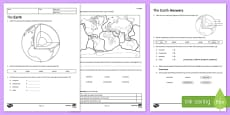 KS3 The Earth Homework Activity Sheet