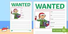 New Zealand Christmas Elf Wanted Poster Activity Sheet
