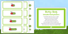 Caterpillar Ordering Numbers Busy Bag Prompt Card and Resource Pack