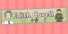 Edith Cavell Display Banner