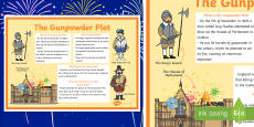 The Gunpowder Plot Large Information Poster KS1