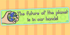 Eco and Recycling The Future of the Planet Display Banner (Australia)