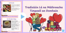 * NEW * ROI Mother's Day Around the World Irish PowerPoint - Gaeilge