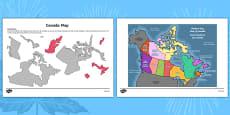 Canada Day Map Activity Sheet