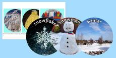 Winter Display Circle Photo Cut Outs