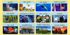 Television Programme Matching Card Game Gaeilge