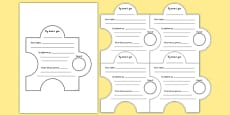 Foundation Phase Transition Jigsaw Activty Display Cut Outs