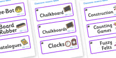 Magical Themed Editable Additional Classroom Resource Labels