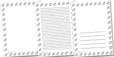 Zebra Portrait Page Borders