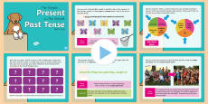 Year 2 Simple Past & Simple Present Tense Warm-Up PowerPoint