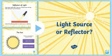 * NEW * Gives Light or Reflects Light? PowerPoint