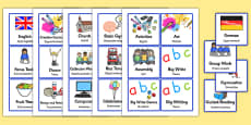 Polish Translation Visual Timetable for KS1 EAL