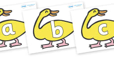 Phoneme Set on Yellow Duck to Support Teaching on Brown Bear, Brown Bear
