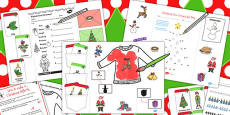 Early Year Christmas Lapbook Creation Pack