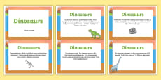Amazing Dinosaur Display Fact Cards