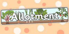 Allotment Themed Banner