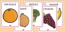 Fructe și legume - Planșe A4