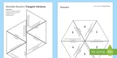 Reversible Reactions Tarsia Triangular Dominoes