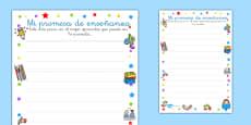 Teacher Learning Promise Worksheet Spanish