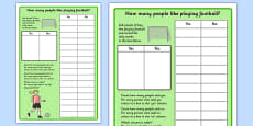 Football Graph Activity Sheet