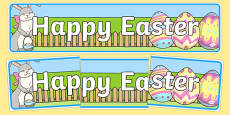 Happy Easter Display Banner