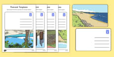 Post Office Postcard Templates