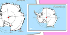 KS1 Geography Continents of the World Posters Antarctica