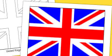 United Kingdom Flag Display Poster
