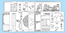Winter Activity Photocopy Pack