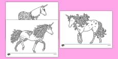 Unicorn Mindfulness Colouring Sheets