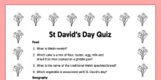 Elderly Care St David's Day Quiz