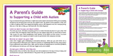 A Parent's Guide to Parenting a Child with Autism Adult Guidance