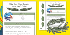 Make Your Own  Olympic Olive Leaf Crown Role Play Headbands
