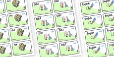 Pine Tree Themed Editable Book Labels