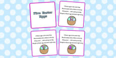 Five Easter Eggs Counting Song Sequencing Cards