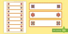 * NEW * Rangoli Patterns Themed Tray Labels
