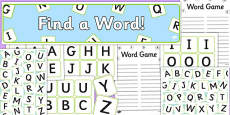 Word Game Display Pack