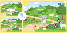 Easter Egg Prepositions Picture Hotspots French