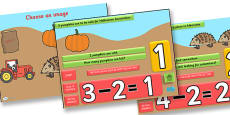 Autumn Themed Subtraction PowerPoint