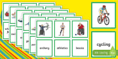 Paralympics Sports Matching Cards