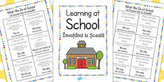 New EAL Starter Learning at School Booklet EAL Romanian Translation