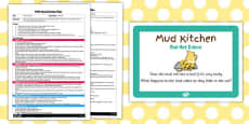 Mud Hot Cakes EYFS Mud Kitchen Plan and Prompt Card Pack