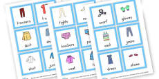 Clothes EAL Cards