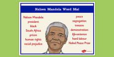 Nelson Mandela Word Mat
