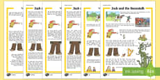 Jack and the Beanstalk Traditional Tales Differentiated Reading Comprehension Arabic/English