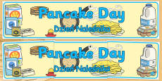 Pancake Day Display Banner Polish Translation
