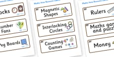 Badger Themed Editable Maths Area Resource Labels