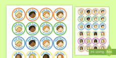 School Role Play Stickers Afrikaans/English