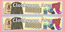 Cloakroom Area Sign