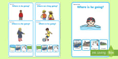 * NEW * Where Are They Going? Making Inferences Activity